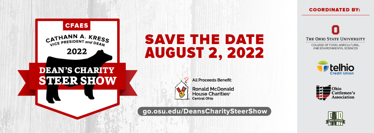 Dean's Charity Steer Show Banner